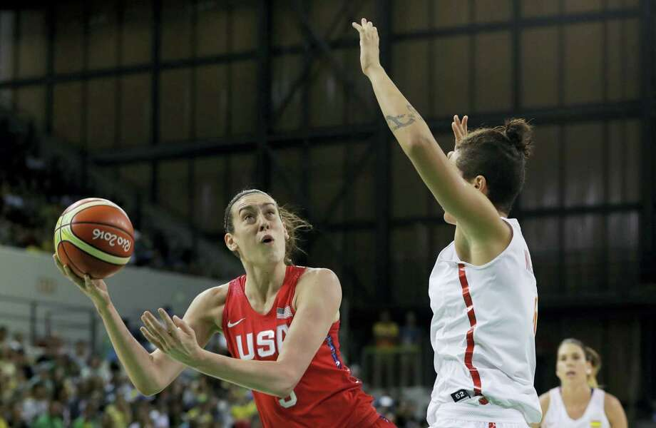 United States forward Breanna Stewart shoots during the first half of a women's basketball game against Spain at the Youth Center at the 2016 Summer Olympics in Rio de Janeiro, Brazil on Aug. 8, 2016. Photo: AP Photo/Carlos Osorio  / Copyright 2016 The Associated Press. All rights reserved. This material may not be published, broadcast, rewritten or redistribu