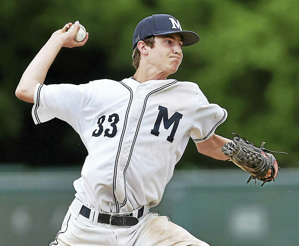 Morgan's Chad Neri delivers a pitch against Cromwell on Tuesday.