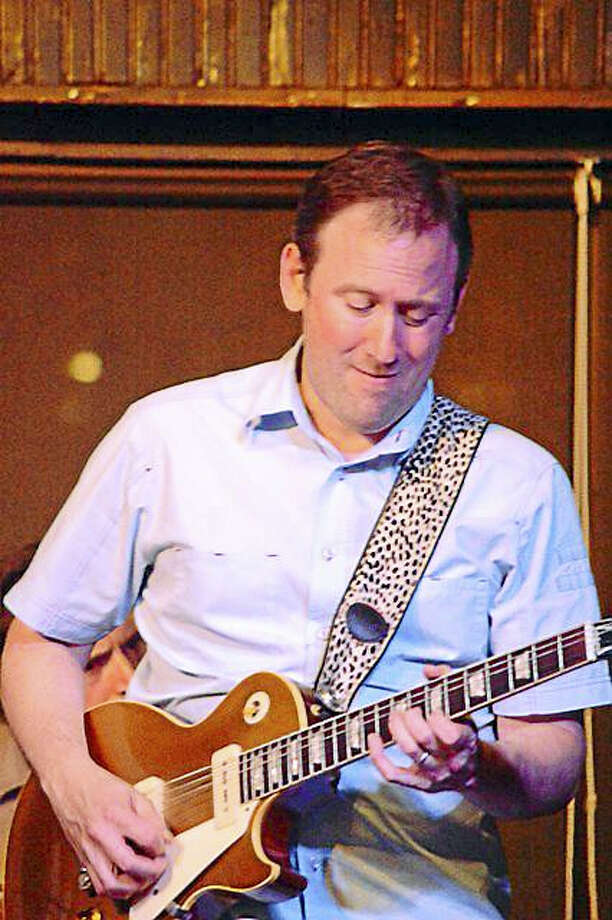 """Photo by Dom ForcellaEric Ducoff leads the """"Blues for Dave"""" at Black-Eyed Sally's Sunday, April 10. Photo: Journal Register Co."""