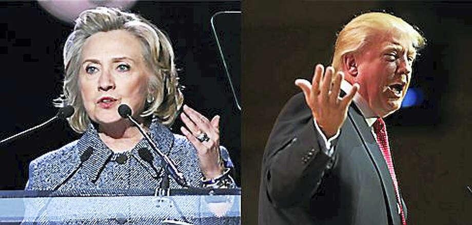 Former U.S. Secretary of State Hillary Clinton, left, and Republican Donald Trump. Photo: Shutterstock