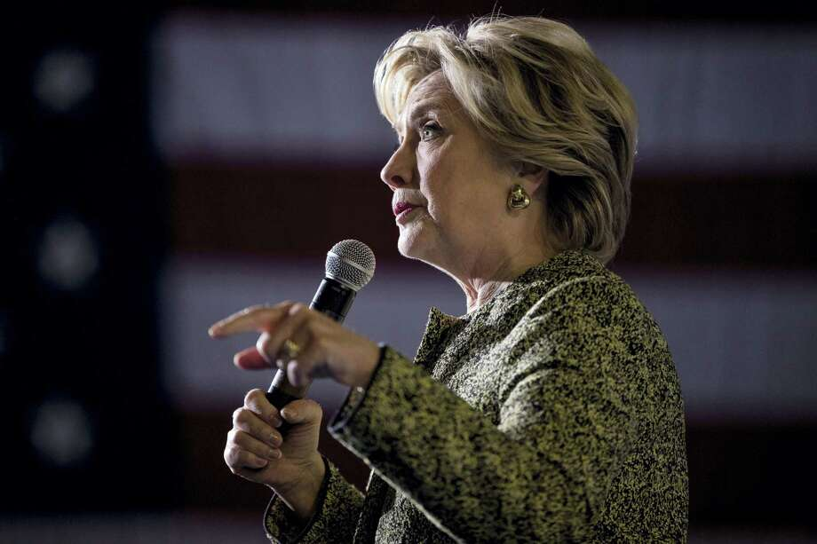 Democratic presidential candidate Hillary Clinton speaks at a rally at the Smith Center for the Performing Arts in Las Vegas Wednesday. Photo: The Associated Press  / Copyright 2016 The Associated Press. All rights reserved.