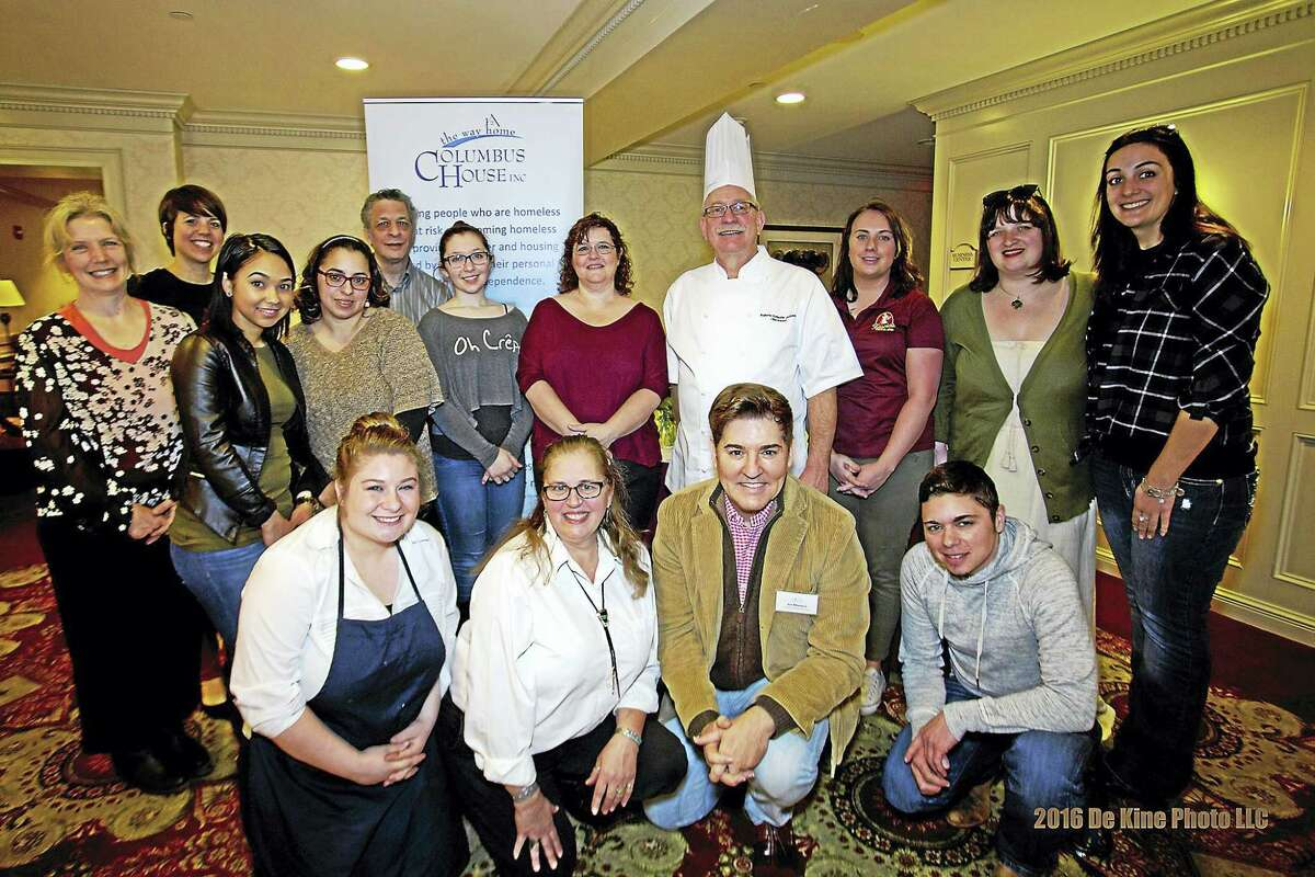 Columbus House's 'Chocolate to the Rescue' event on March 13th was a great success! Over $16,000 was raised for our Middlesex Family Shelter. I have attached a press release with all of the details, along with two photos. (group photo caption: Jim Masters (front row, second from right), TV and Radio Personality, with all of the participants at the 14th Annual 'Chocolate to the Rescue' to benefit Columbus House Middlesex Family Shelter.)