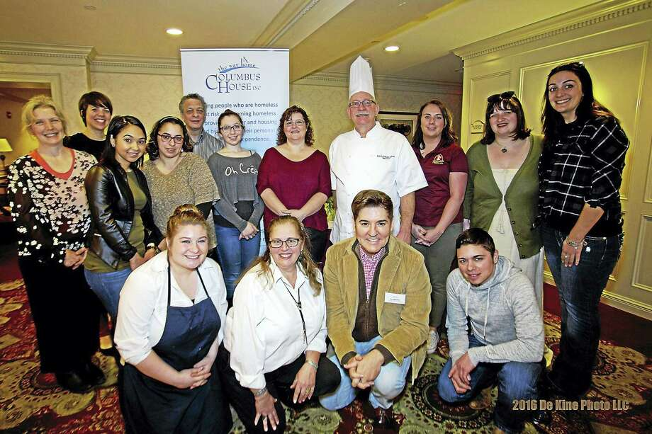 Columbus House's 'Chocolate to the Rescue' event on March 13th was a great success! Over $16,000 was raised for our Middlesex Family Shelter. I have attached a press release with all of the details, along with two photos. (group photo caption: Jim Masters (front row, second from right), TV and Radio Personality, with all of the participants at the 14th Annual 'Chocolate to the Rescue' to benefit Columbus House Middlesex Family Shelter.) Photo: Journal Register Co. / (c)DE KINE PHOTO LLC