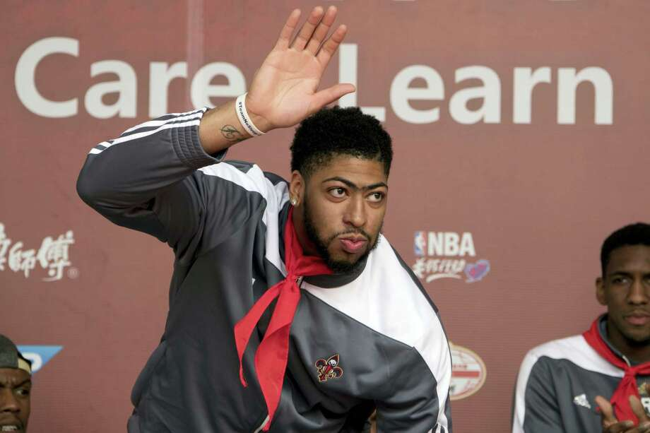 New Orleans Pelicans player Anthony Davis, attends a dedication ceremony for a NBA Cares Learn and Play Center at the Huangzhuang Migrant School in Beijing, China on Oct. 11, 2016. Photo: AP Photo/Ng Han Guan  / Copyright 2016 The Associated Press. All rights reserved.