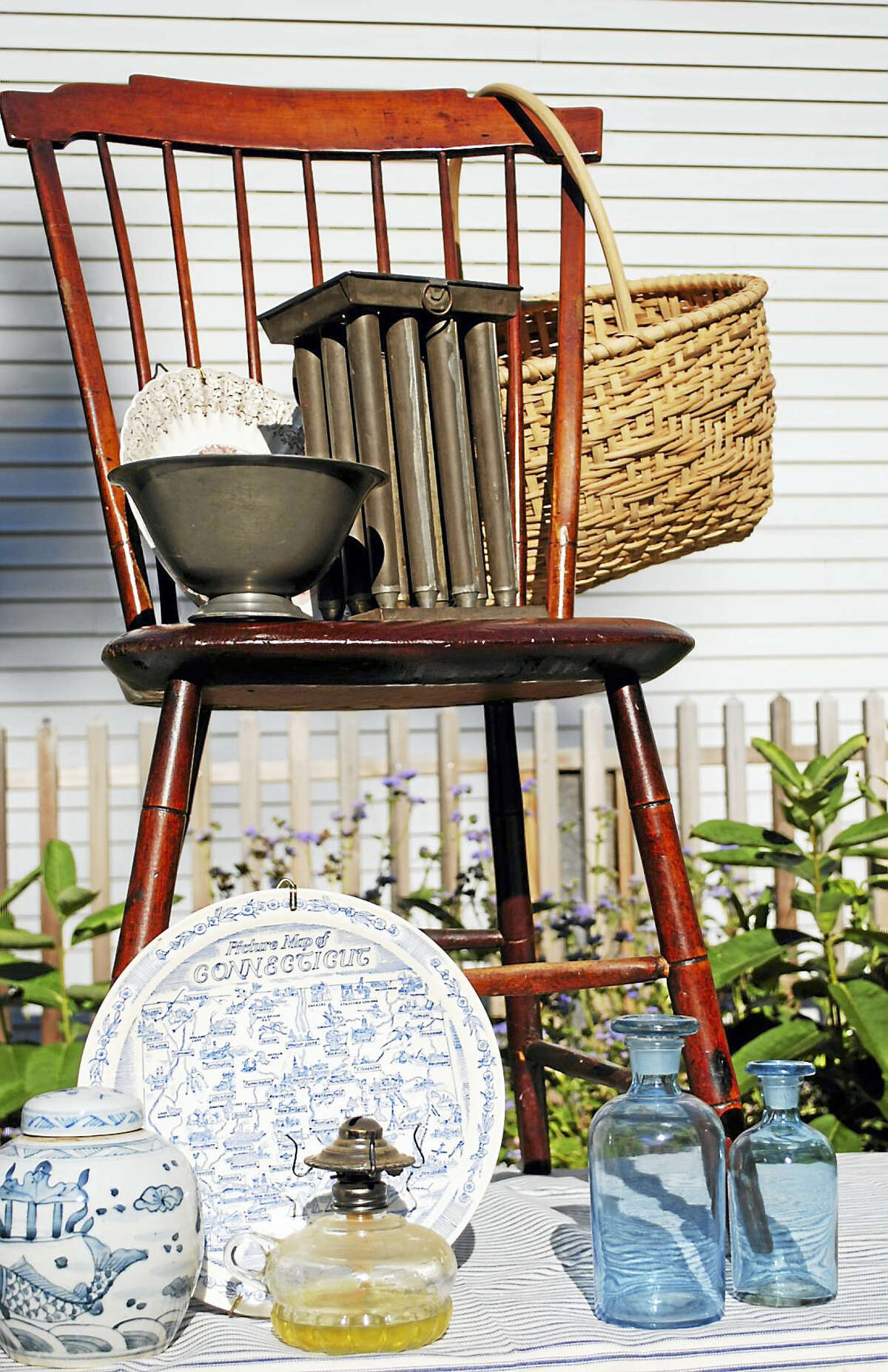 """Haddam: The Haddam Historical Society is hosting """"Antiques and Uniques"""" on Saturday, Oct. 15, 10 a.m.-3 p.m. on the grounds of Whole Harmony Apothecary at 1572 Saybrook Road, Haddam. The event is free to the public. The marketplace will feature quality collectibles, antiques, vintage and a many other unique treasures. Highlights include estate furniture, antique books, vintage linens and all around great goods. Whole Harmony, a new herbal apothecary located in the historic Alpheus W. Tyler House will be open and visitors can shop for hand crafted artisan tea blends and accessories. For additional information, visit www.haddamhistory.org or call 860-345-2400 or email contact@haddamhistory.org. The event benefits the Thankful Arnold House Museum and Haddam Historical Society."""