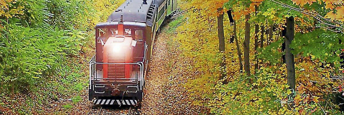 Contributed photo The Essex Steam Train is a great way to enjoy fall foliage in Connecticut.
