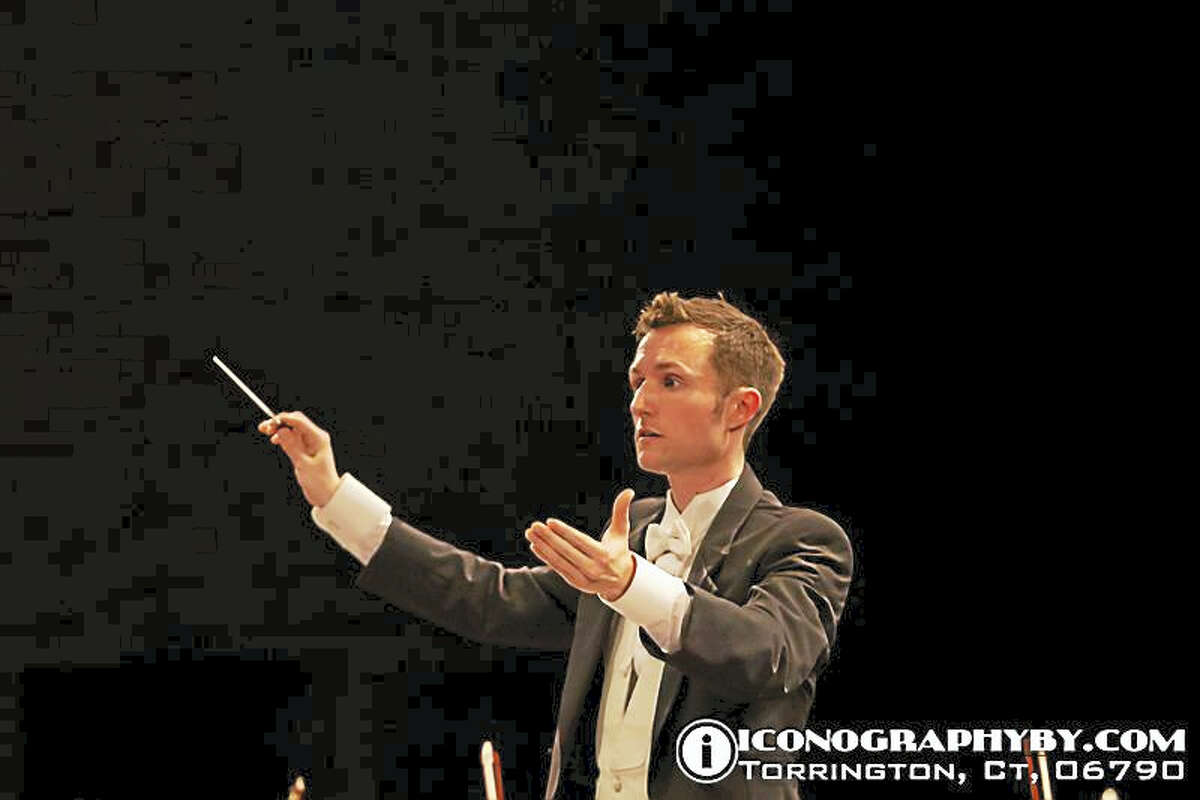 Iconographyby.comJonathan Edward Brennand, Music Director of the Farmington Valley Symphony Orchestra.