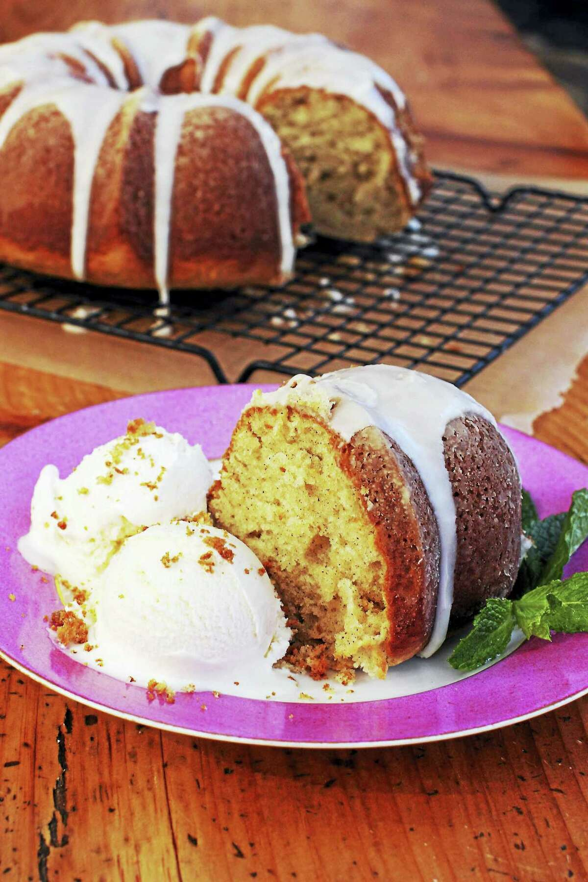 This Bundt-style sour cream cinnamon coffee cake is easy to make.