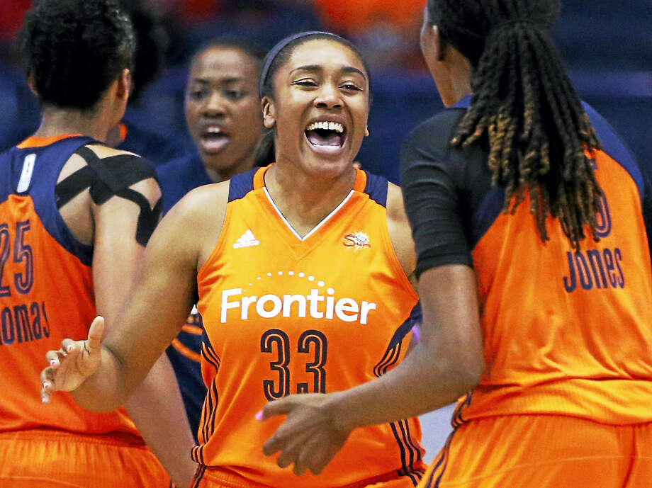 Former UConn standout and current Connecticut Sun forward Morgan Tuck. Photo: The Associated Press File Photo  / Copyright 2016 The Associated Press. All rights reserved. This material may not be published, broadcast, rewritten or redistribu