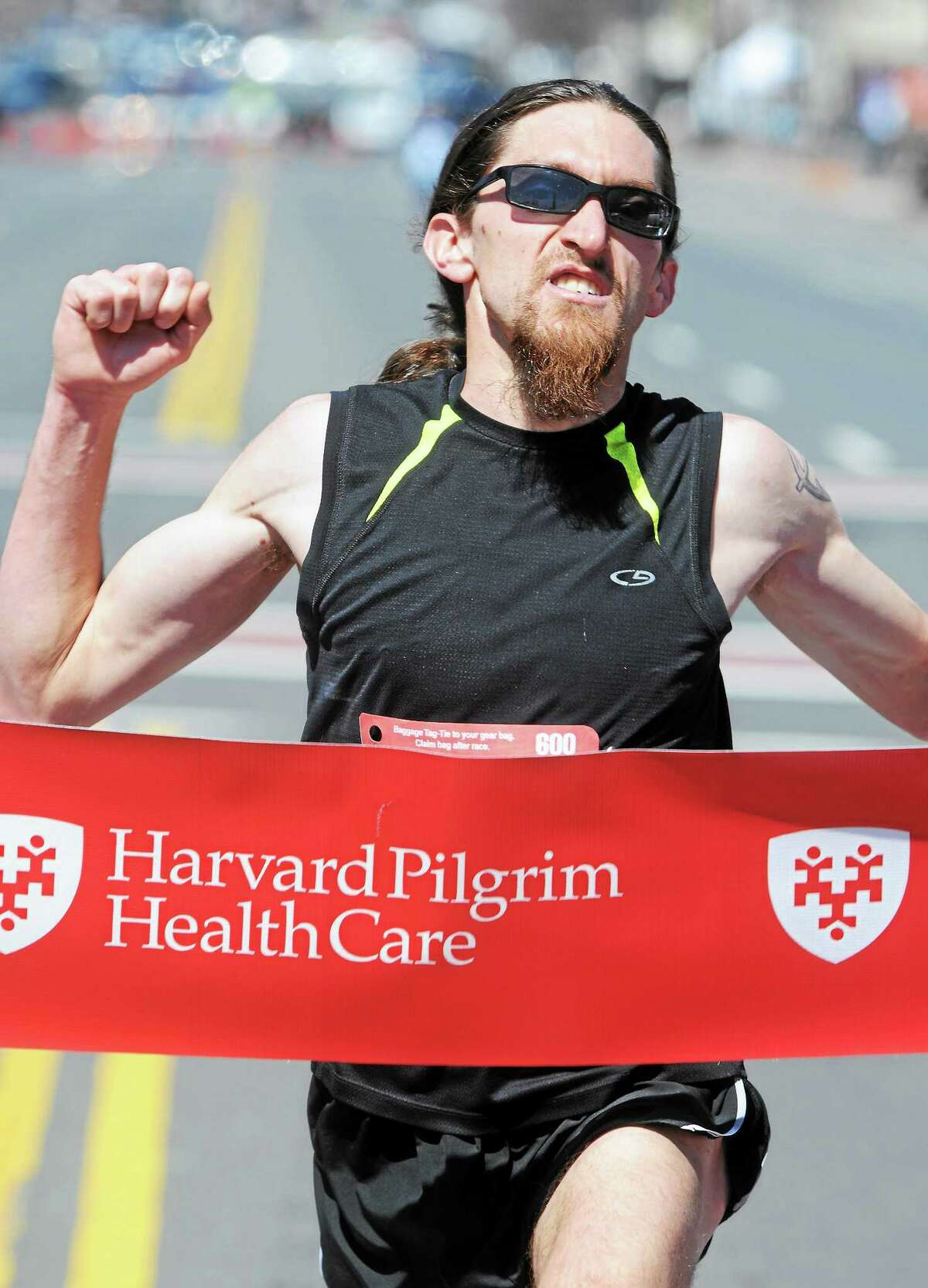 The men's winner of Middletown's 2014 Harvard Pilgrim Half-Marathon was Will Sanders of Wethersfield.