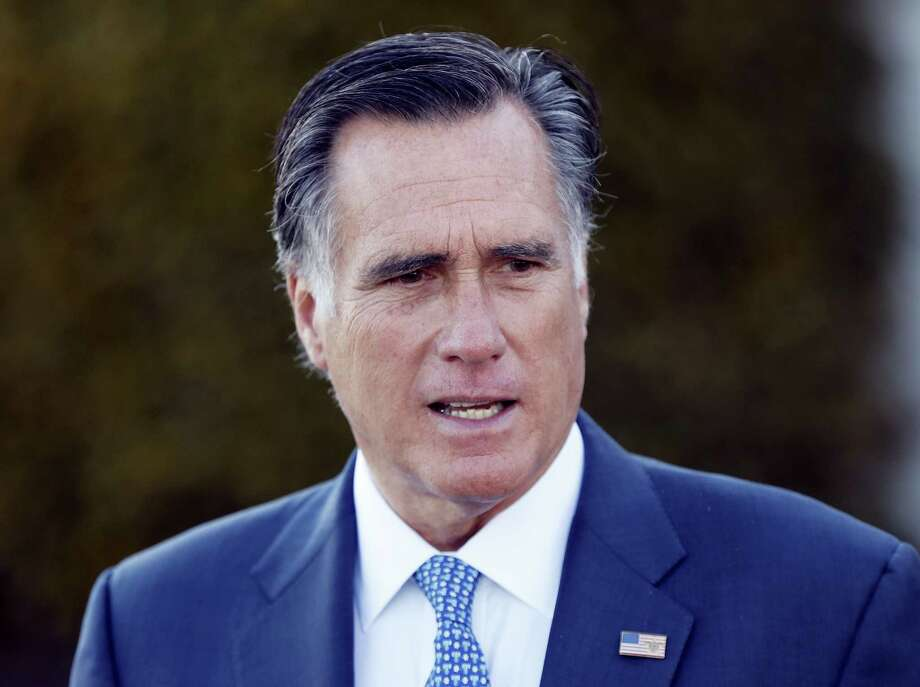 In this Nov. 19, 2016 photo, Mitt Romney talks to media after meeting with President-elect Donald Trump at Trump National Golf Club Bedminster in Bedminster, N.J. Kellyanne Conway, a top Trump adviser warned Sunday, Nov. 27, that the president-elect's supporters would feel 'betrayed' if he tapped Romney as secretary of state, a move that would put a fierce Trump critic in a powerful Cabinet post. Photo: AP Photo/Carolyn Kaster, File  / Copyright 2016 The Associated Press. All rights reserved.