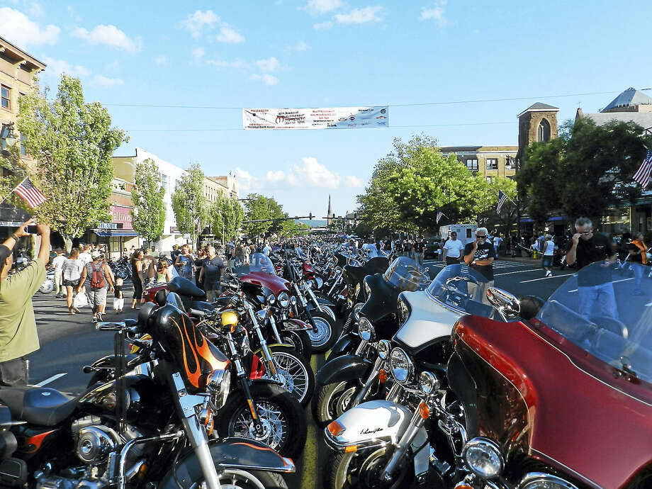 The 11th annual Middletown Motorcycle Mania will take place on Wednesday from 4:30 to 8:30 p.m. on Main Street in Middletown Photo: De Kine Photo LLC