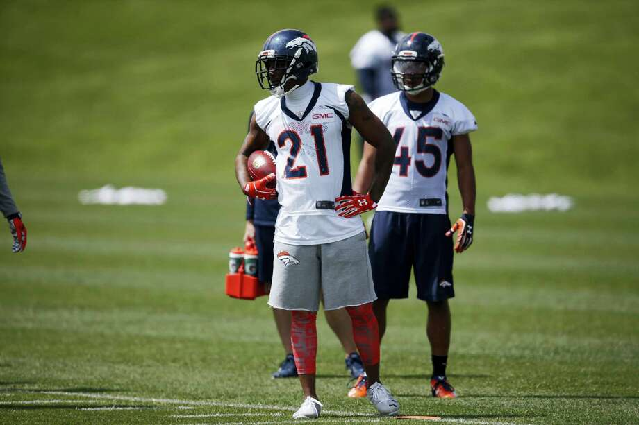 Broncos cornerback Aqib Talib (21). Photo: David Zalubowski — The Associated Press  / AP