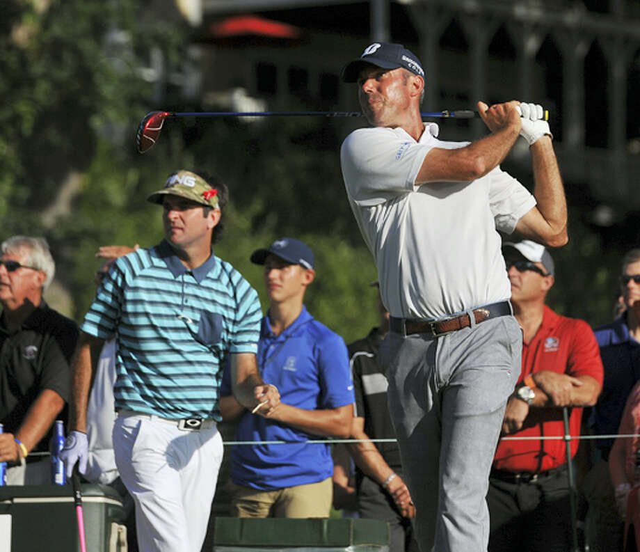 Matt Kuchar, shown here during the first round of the Travelers championship on Thursday, stands at 4-under par after the second round. Photo: Peter Casolino — Hartford Courant Via AP  / Hartford Courant
