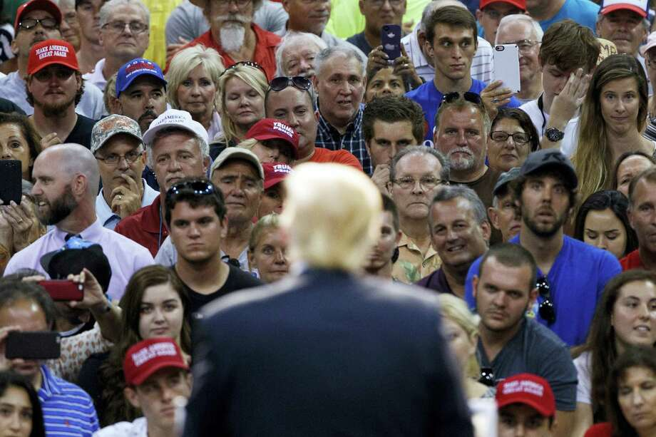 Republican presidential candidate Donald Trump speaks during a campaign town hall at Ocean Center, Wednesday, Aug. 3, 2016, in Daytona Beach, Fla. Photo: AP Photo/Evan Vucci   / Copyright 2016 The Associated Press. All rights reserved. This material may not be published, broadcast, rewritten or redistribu
