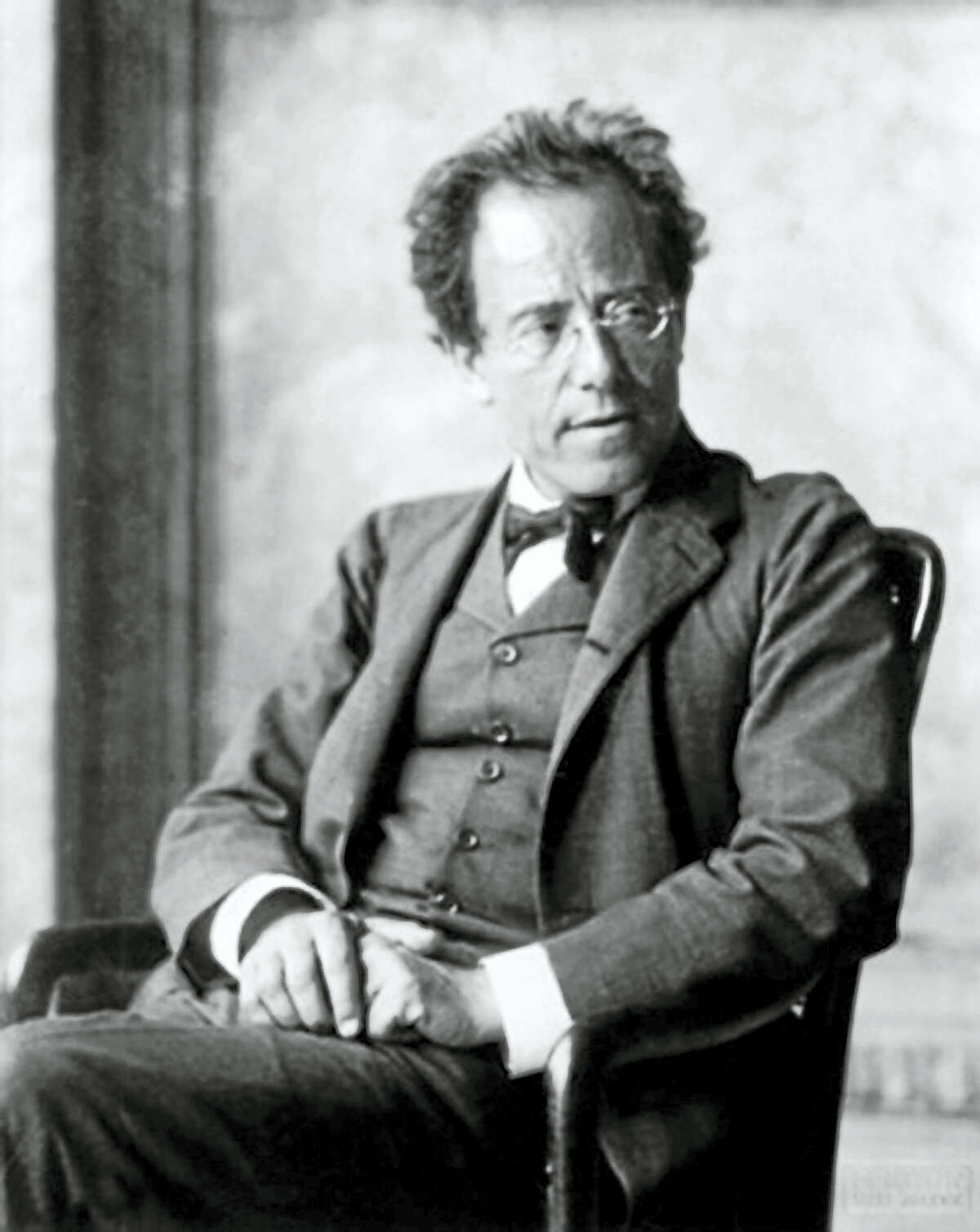 A 1907 portrait of Gustav Mahler, four years before his death at age 51.