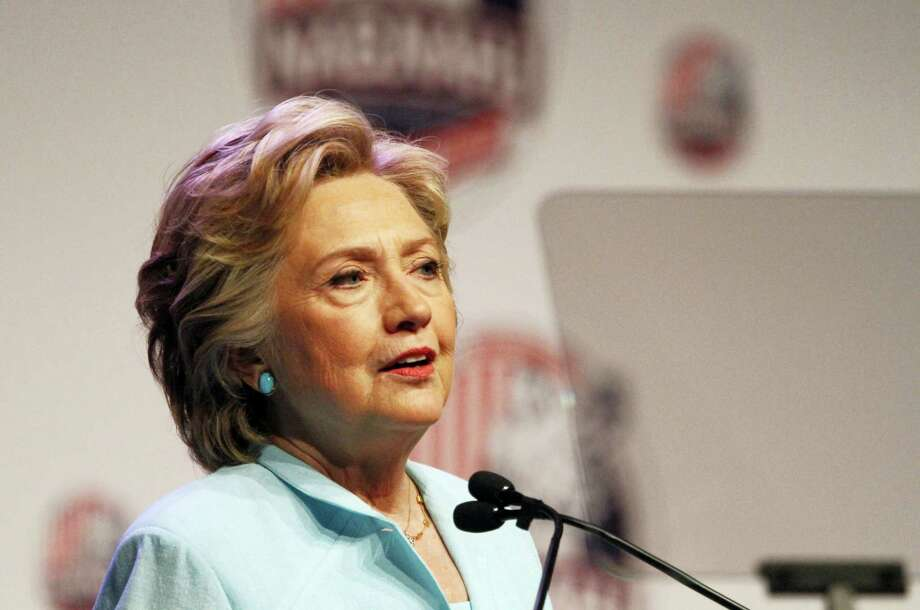 The Associated Press Democratic presidential candidate Hillary Clinton addresses the 2016 National Association of Black Journalists and National Association of Hispanic Journalists joint convention Friday. Clinton should let Trump self-destruct, Chris Powell writes, and not engage in back-and-forth mudslinging. Photo: AP / Copyright 2016 The Associated Press. All rights reserved. This material may not be published, broadcast, rewritten or redistribu