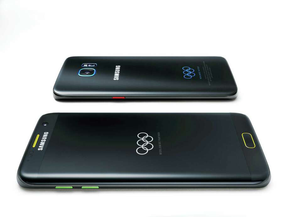This undated product image provided by Samsung shows a special Olympic Games edition of its Galaxy S7 Edge phone. Samsung, an Olympic sponsor, plans to deliver the phone to 12,500 Olympians. Photo: Samsung Via AP  / WNP