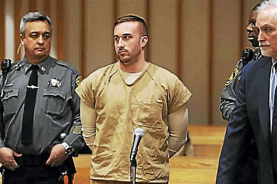 Kyle Navin, charged with killing his parents, appears at a presentment at the Fairfield County Courthouse in Bridgeport last November. Navin has been given another month to decide whether to take a plea deal. Photo: Autumn Driscoll — Hearst Connecticut Media Via AP, Pool