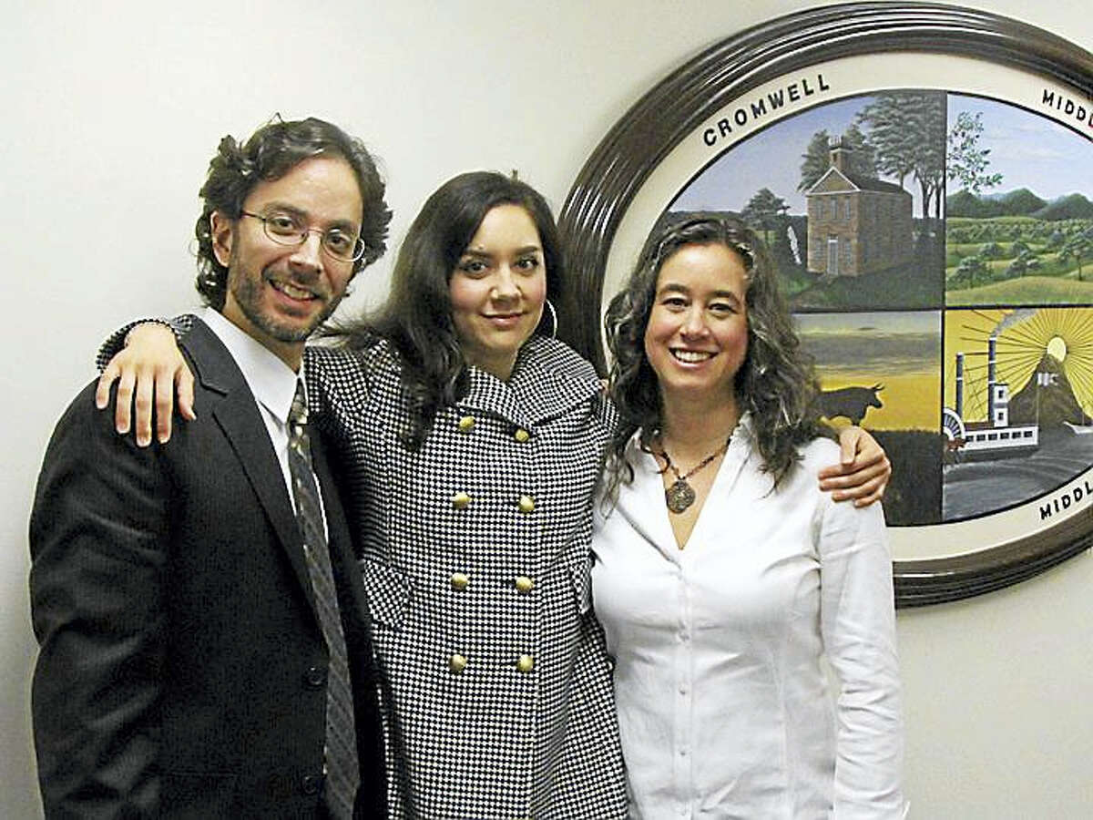 Adoption day with Noah Baerman, Rebecca Koval and Kate TenEyck of Middletown