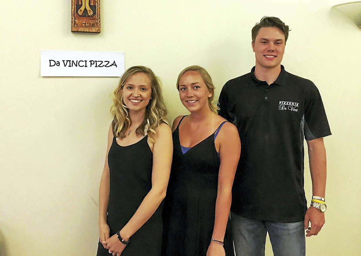 DaVinci Pizza of Haddam won the fifth annual Middletown Pizza War, a benefit for the Feed the People Charity. Amanda Pitruzzello, Jessica Korpenin and Hunter Czaja served hundreds of happy customers on Thursday at St. Francis of Assisi Church.
