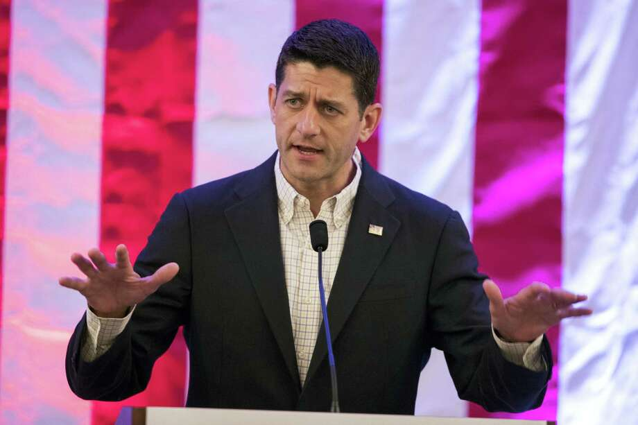 In this July 18, 2016 photo, House Speaker Paul Ryan of Wisconsin speaks during a breakfast with Pennsylvania delegates during the Republican National Convention in Westlake, Ohio. Photo: AP Photo/Evan Vucci, File  / Copyright 2016 The Associated Press. All rights reserved. This material may not be published, broadcast, rewritten or redistribu