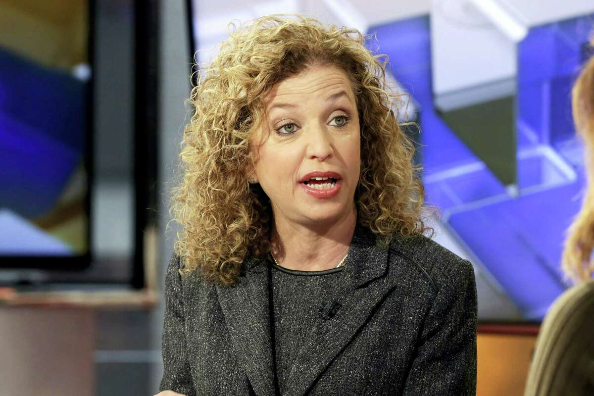 In this March 21, 2016 photo, then-Democratic National Committee (DNC) Chair, Rep. Debbie Wasserman Schultz, D-Fla., is interviewed in New York.