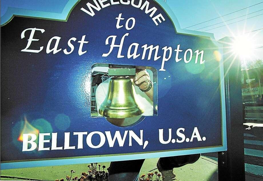 File photo  East Hampton sign Photo: File Photo