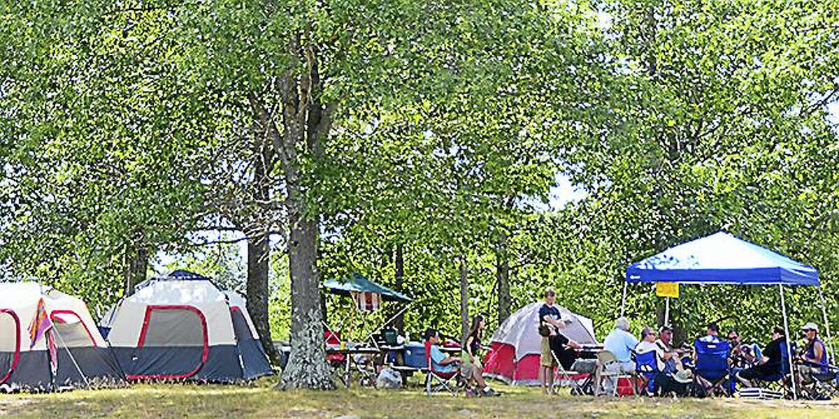 Contributed photo Camping areas are available at the Hebron Lions Fairgrounds for the bluegrass festival.