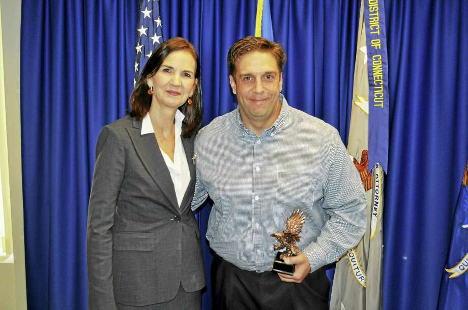 U.S. Attorney Deirdre M. Daly and Middletown Police Department Sgt. Michael Lukanik Photo: Courtesy U.S. Attorney's Office