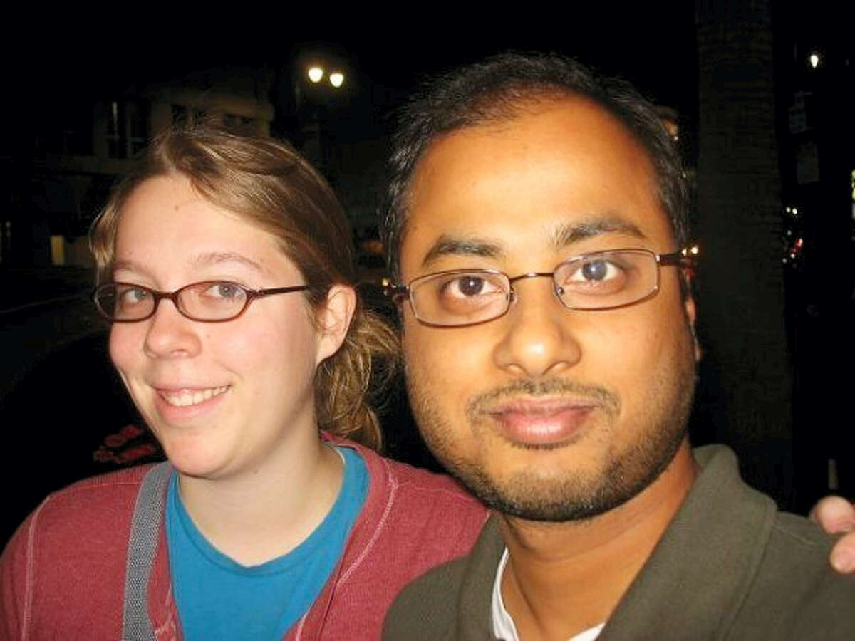 """Ashley Hasti, left, and Mainak Sarkar, who police say carried out a murder-suicide at the University of California, Los Angeles on Wednesday, June 1, 2016. Sarkar had a """"kill list"""" with multiple names that included professor Bill Klug, Hasti who was found dead in a Minneapolis suburb and another UCLA professor who was not harmed, a law enforcement official with knowledge of the investigation told The Associated Press."""