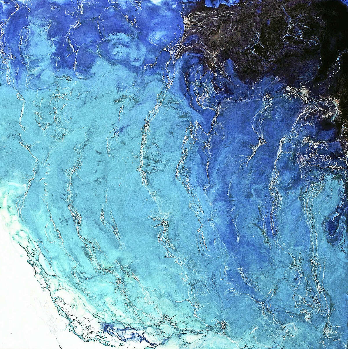 Contributed photo Artist and poet Gray Jacobik will show her paintings and present programs at Maple and Main's Stone Gallery this month. Above, a painting by Jacobik.
