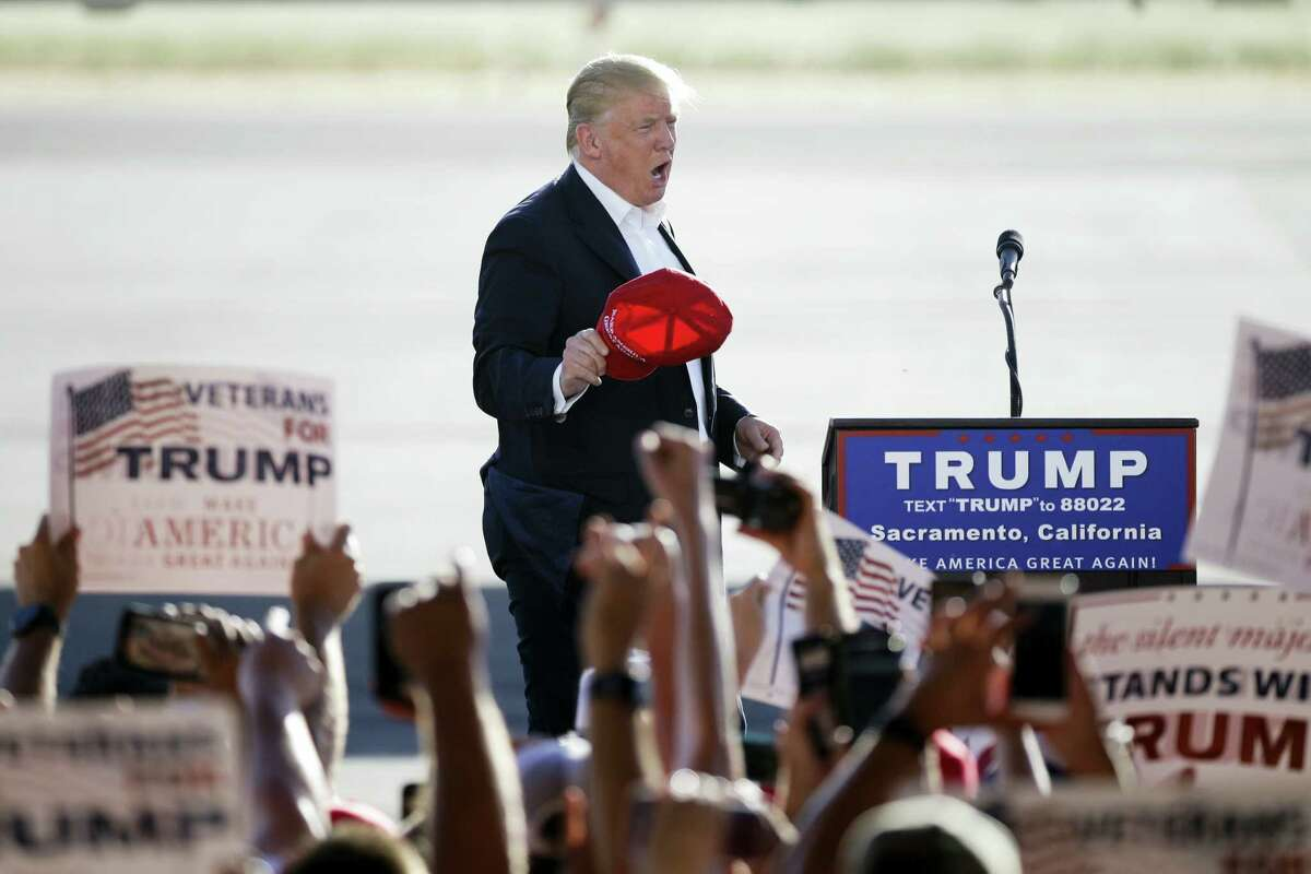 Republican presidential candidate Donald Trump arrives to speak at a rally Wednesday, June 1, 2016, in Sacramento, Calif. Ryan endorsed Donald Trump on Thursday.
