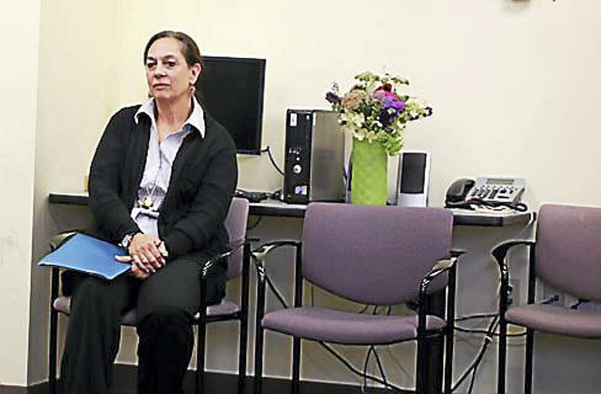 DCF Commissioner Joette Katz in the Middletown office