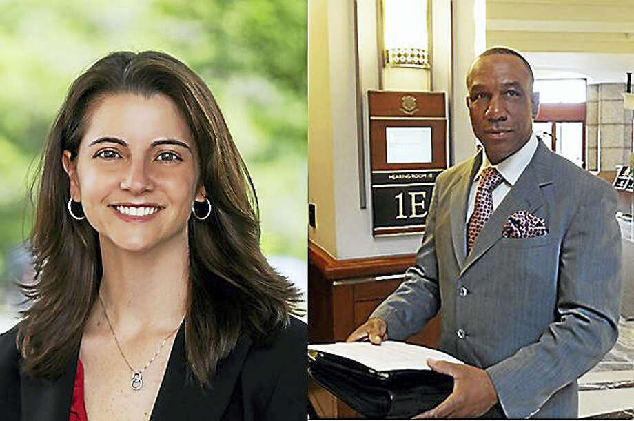 State Rep. Christie Carpino and Democratic challenger Myron P. Johnson Photo: Contributed Photos