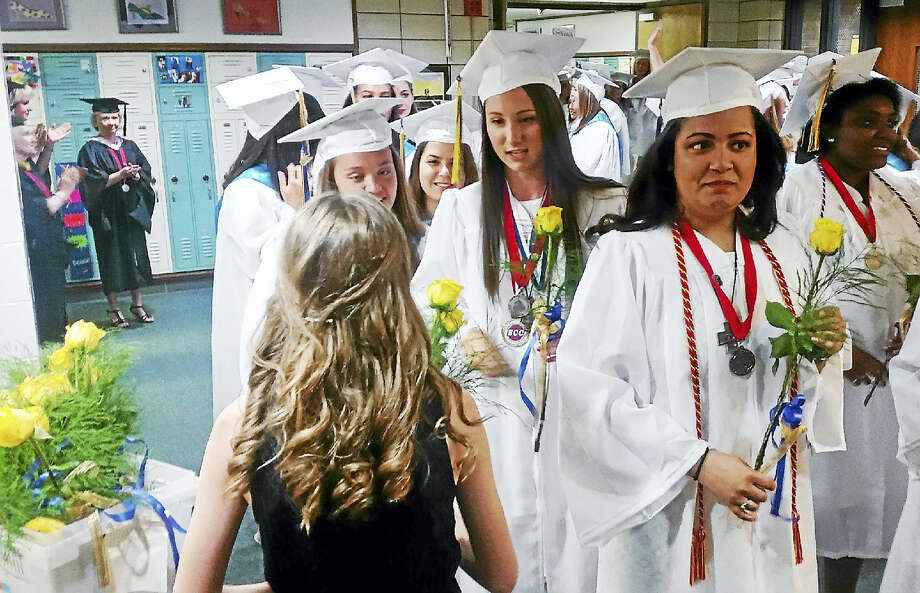 Mercy High School graduated the Class of 2016 on Thursday in Middletown. Photo: Kathleen Schassler — The Middletown Press