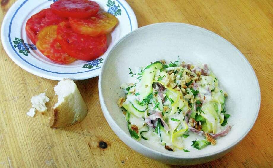 "Zucchini ribbon ""pasta"" in lemon cream sauce. Photo: Sara Moulton Via AP  / Sara Moulton"
