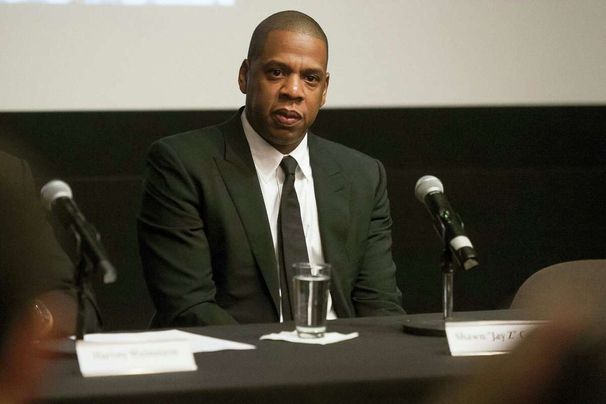 """Shawn """"Jay Z"""" Carter announces the Weinstein Television and Spike TV release of """"TIME: The Kalief Browder Story"""" during a press conference at The Roxy Hotel Cinema on Oct. 6, 2016 in New York."""