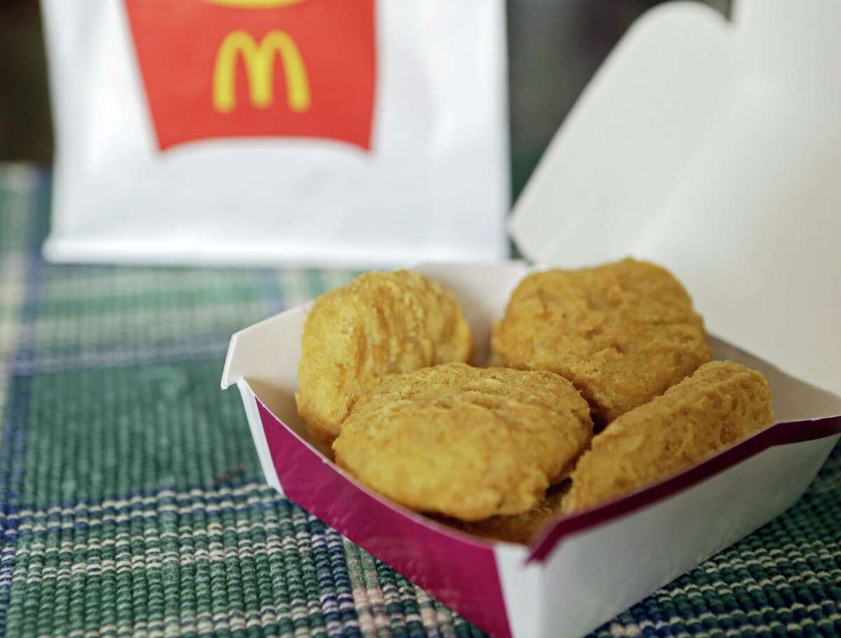 In this file photo, an order of McDonald's Chicken McNuggets is displayed for a photo in Olmsted Falls, Ohio.