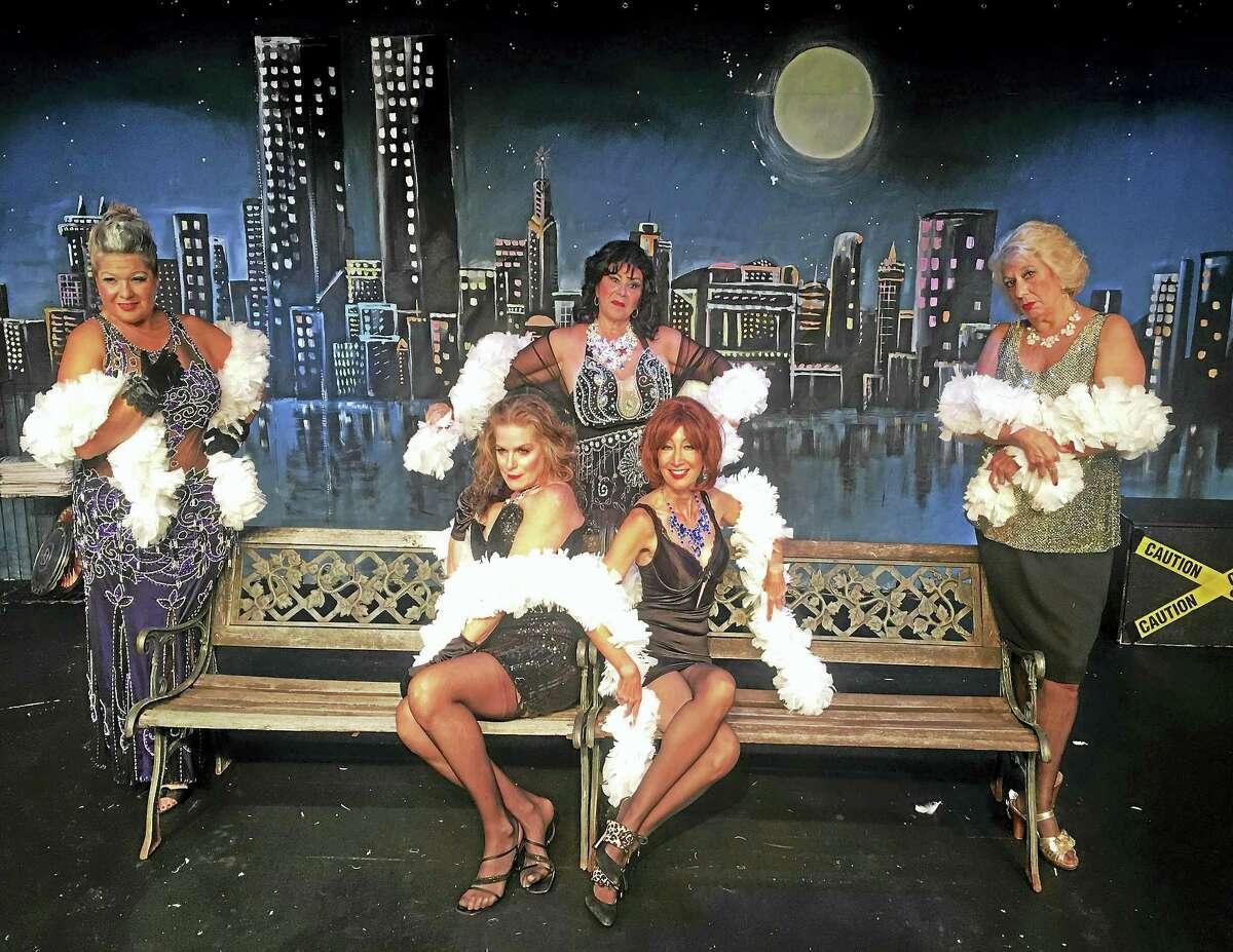 Photos courtesy of Connecticut Cabaret Theatre The cast of The Oldest Profession includes Jennifer Burns, Nancy Ferenc, Karen Gagliardi, Barbara Horan and Bonnie Sprague.