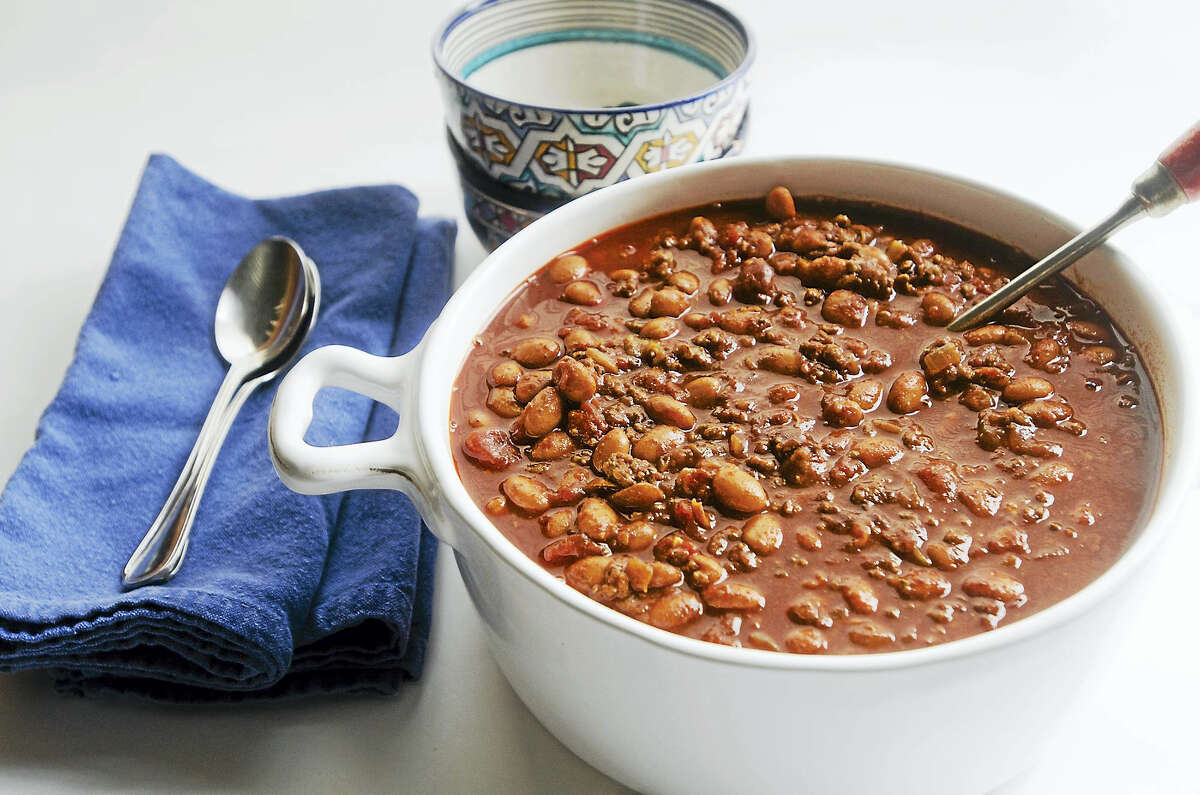 The Fly Creek Cider Mill Cookbook's cider chili, perfect for a cool fall night.