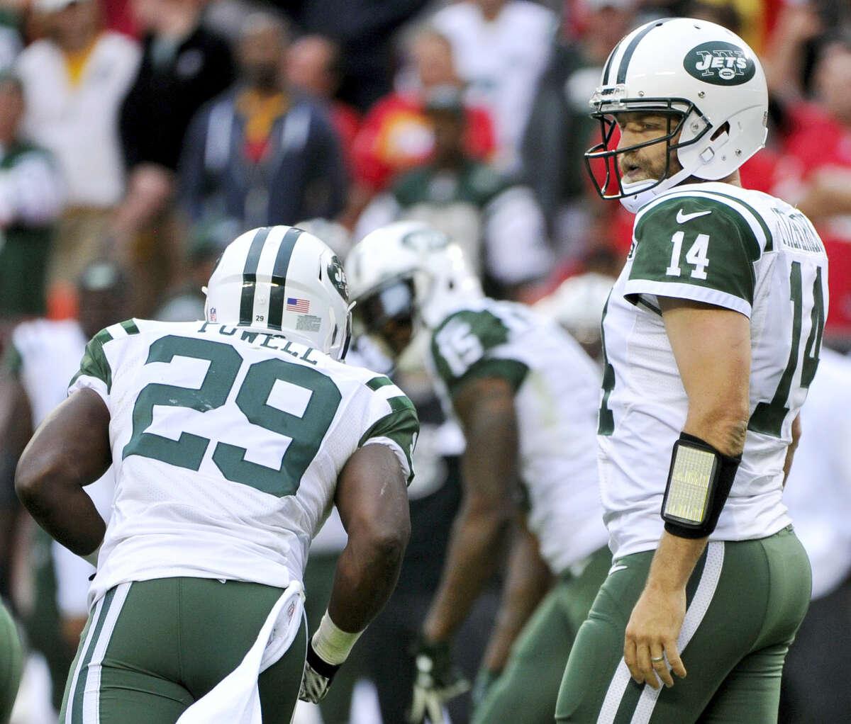 New York Jets quarterback Ryan Fitzpatrick threw six interceptions in a loss to the Chiefs last week.