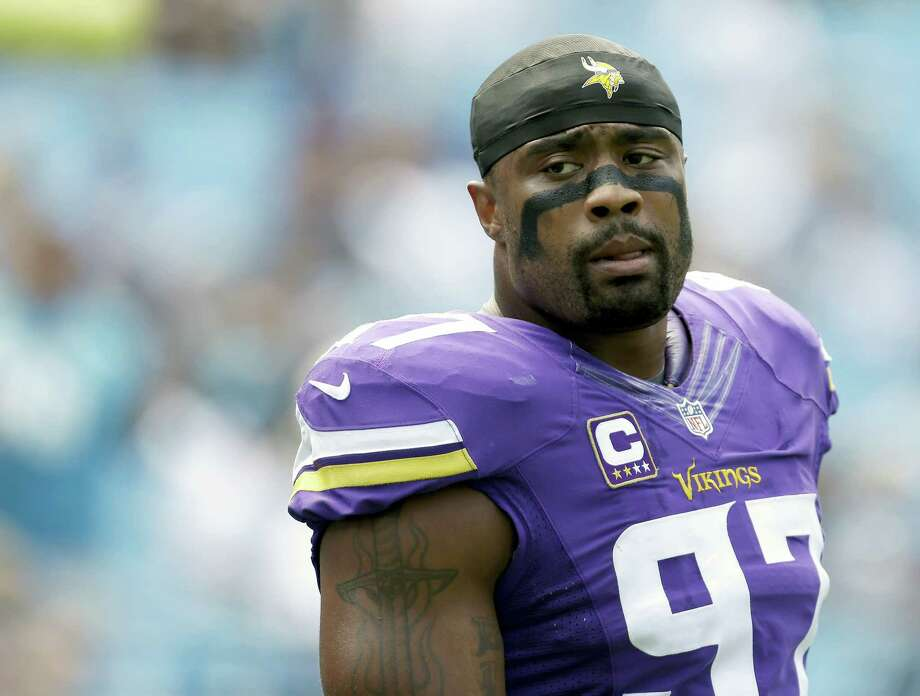 Everson Griffen and the Vikings defense has been a dominating unit through three weeks. Photo: The Associated Press File Photo  / FR170480 AP
