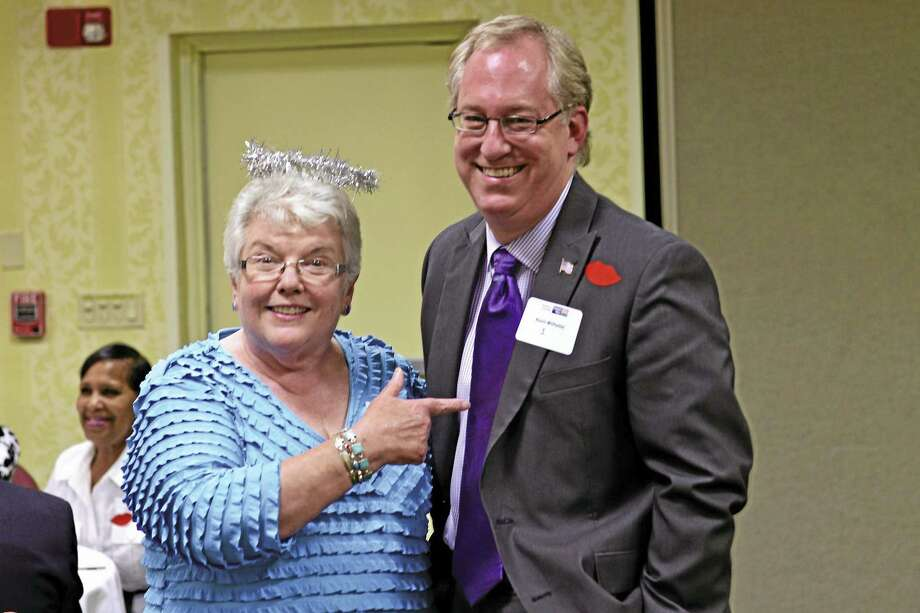 "Patti Anne Vassia, left, former executive director of Middlesex United Way, will be the ""Roast mistress"" at the roast of Executive Director Kevin Wilhelm on Oct. 13 for his 25th anniversary. Photo: Contributed Photo"
