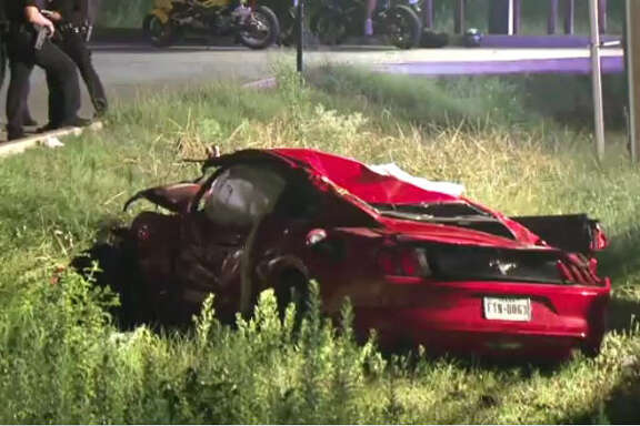 A female driver was ejected out of her car on Saturday morning after losing control and flipping the vehicle over in Spring,according to authorities.