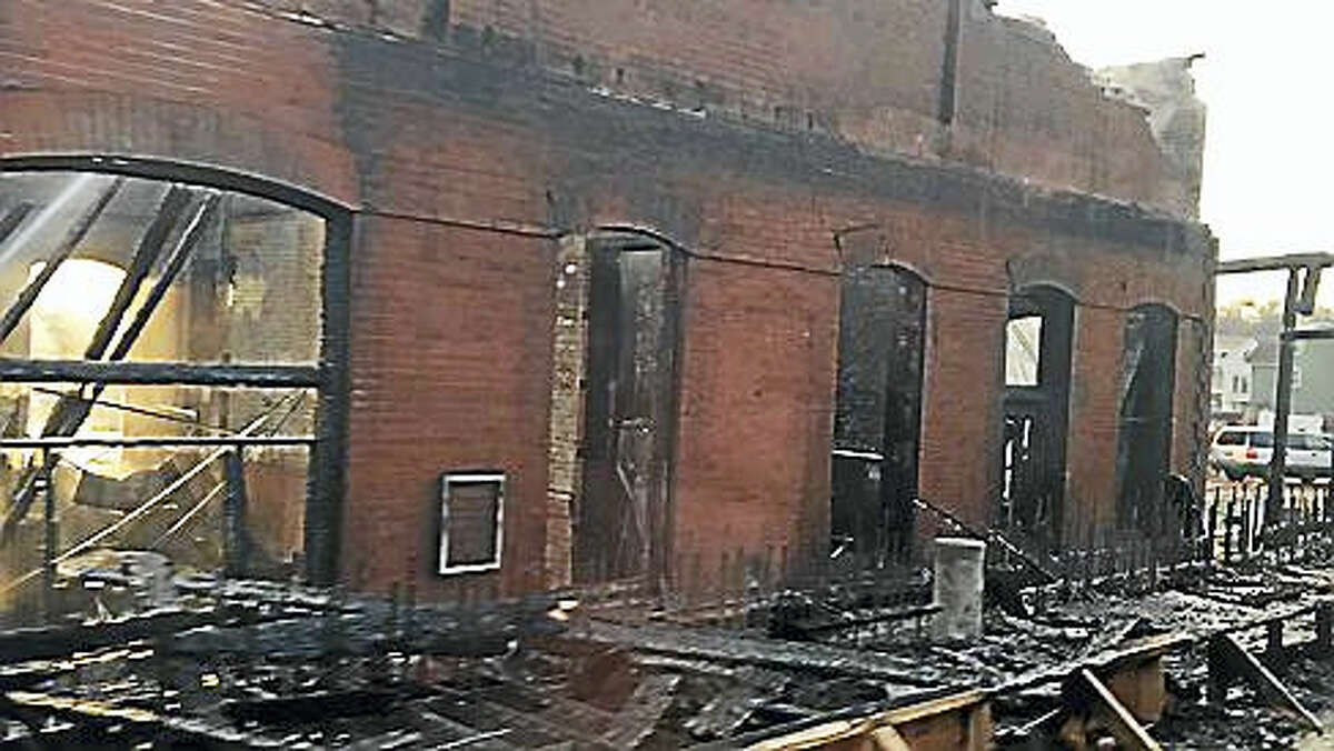 The Berlin train station following the fire, captured from video shot from the 141 train as it rolled through the station. (CTNewsJunkie photo)