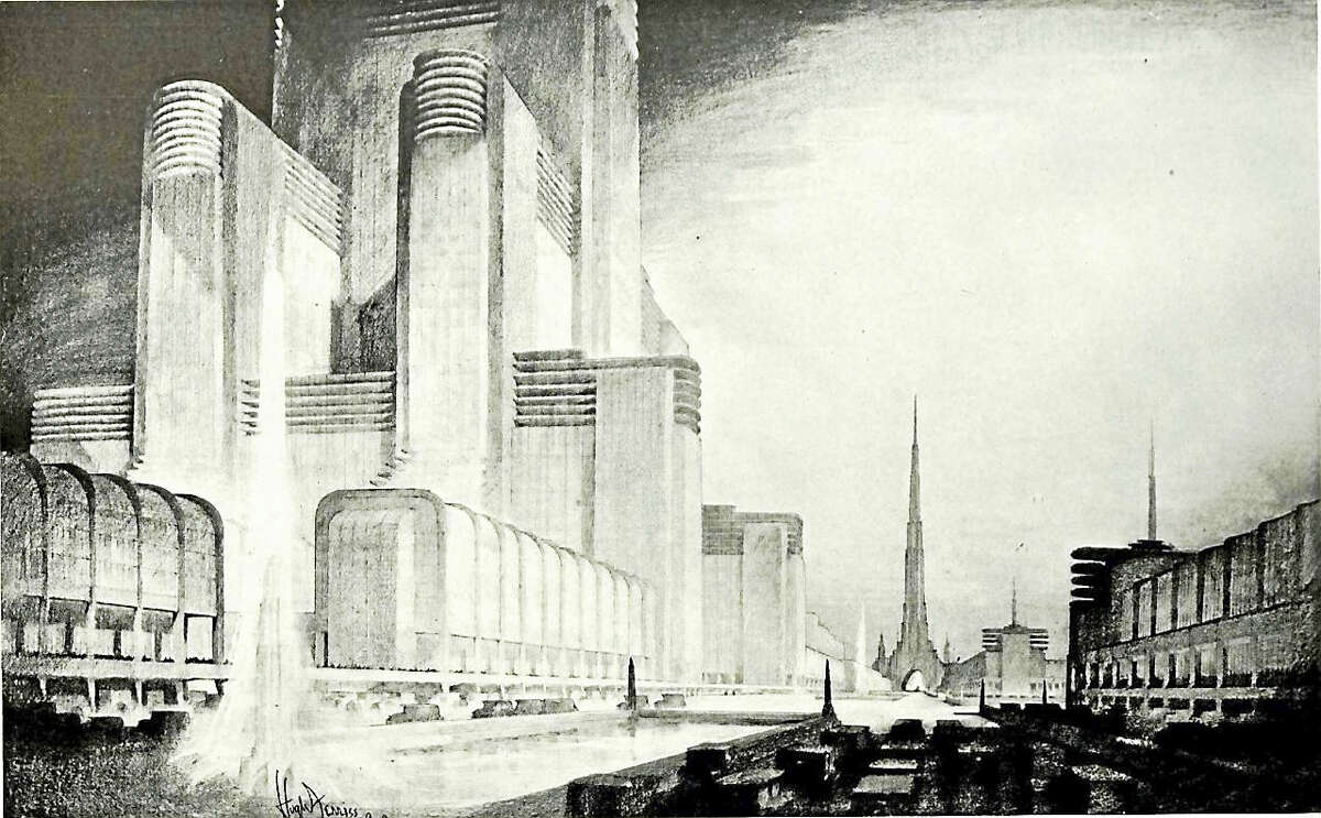 """The Centerbrook Architects Lecture Series Presents """"The Vision & Architectural Designs of Hugh Ferriss and Lee Lawrie"""" with Architectural Historian Dr. Chuck Benson. Learn more about these influential designers in an illustrated talk by Dr. Chuck Benson on Friday, March 18th at 7 p.m. at the Essex Town Hall. This Essex Library program is free and open to the public. The Essex Town Hall is located at 29 West Avenue in Essex. Please call the Essex Library at (860) 767-1560 for more information or to register."""