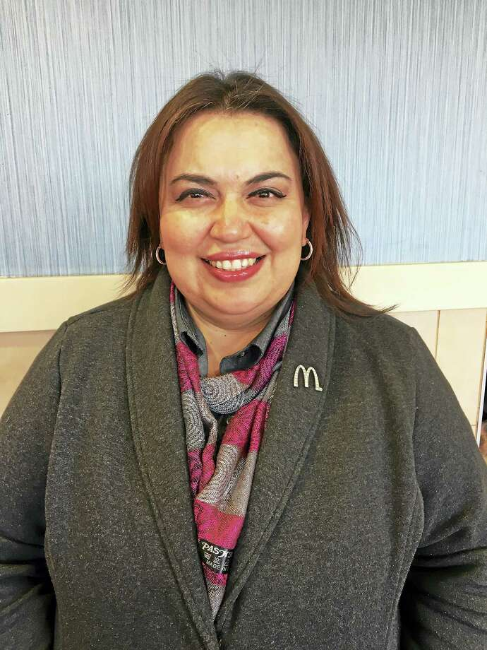 Jessica Castillo, Manger of the McDonald's restaurant in North Branford, has won a Ray Kroc Award, an accolade that recognizes the top performing McDonald's restaurant mangers globally. Castillo was one of 340 McDonald's Restaurant Mangers around the world (representing the top one percent of restaurant managers) to receive the honor, which includes a cash prize and trophy. Castillo, who lives in West Haven and has been working for McDonald's for 10 years, will be awarded on April 13, 2016 at the Ray Kroc Awards Gala in Orlando, Florida hosted by Steve Easterbrook, McDonald's President and Chief Executive Officer, and David Fairhurst, McDonald's Executive Vice President and Chief People Officer. Castillo is originally from Guatemala and first came to the United States in 2005. She began working at McDonald's as a crew member. Photo: Journal Register Co.
