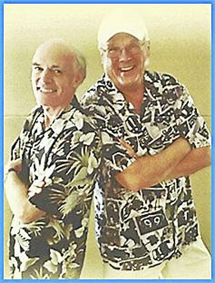 SUBMITTED PHOTOTHE ELDERLY BROTHERSGuilford: The Elderly Brothers, T-Bone Stankus, Brian Gillie, will perform 1950s, '60s bandstand repertoire at 7 p.m. April 27 at the Guilford Free Library,  67 Park St. RSVP: at the reference desk, www.guilfordfreelibrary.org or 203-453-8282. Photo: Journal Register Co.