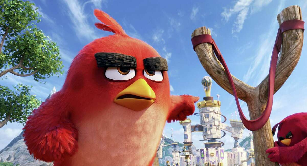 """This image released by Sony Pictures shows the character Red, voiced by Jason Sudeikis, in a scene from """"The Angry Birds Movie."""""""